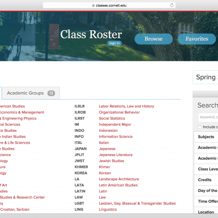 Class Roster launched October 2014.
